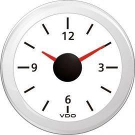 Vdo ur 12v hvid ø52mm