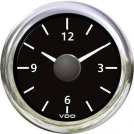 Vdo ur 24v, sort ø52mm