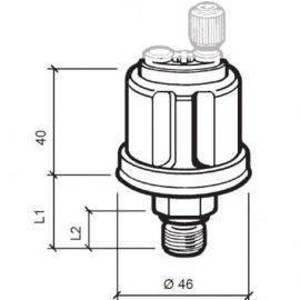 Vdo sensor olie tryk 5 bar, m10x1, 6-24v