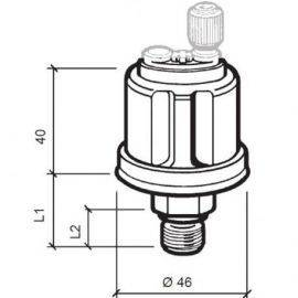 Vdo sensor olie tryk 5 bar, m12x1,5, 6-24v