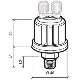 Vdo sensor olie tryk 5 bar med alarm 1-8-27nptf