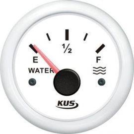 Kus tankmåler vand hvid 0-190ohm 12-24v