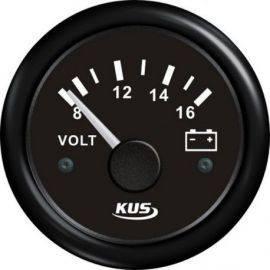 Kus voltmeter sort 12v