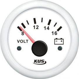 Kus voltmeter hvid 12v