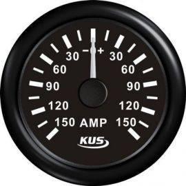 Kus amperemeter sort, med 150a shunt 12/24v