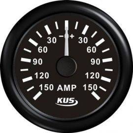 Kus amperemeter sort, med 150Amp shunt 12/24V