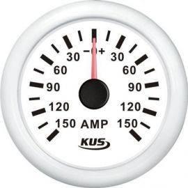 Kus amperemeter hvid med 150a shunt 12-24v