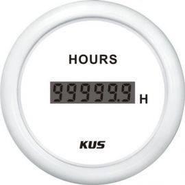 Kus digital timetæller hvid 12-24v
