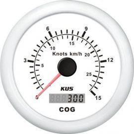 Kus gps speed 0-15knob hvid 12-24v