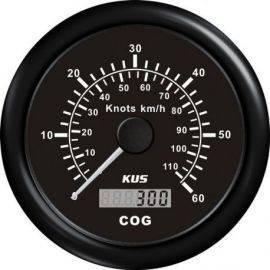 Kus gps speed 0-30knob, sort 12/24v ø85