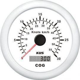 Kus gps speed 0-30knob, hvid 12/24v ø85