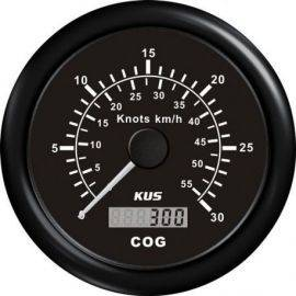 Kus gps speed 0-60knob, sort 12/24v ø85