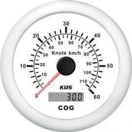 Kus gps speed 0-60knob hvid 12-24v
