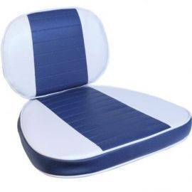 Hynde 2-delt for yachtsman stol grå-blå-grå