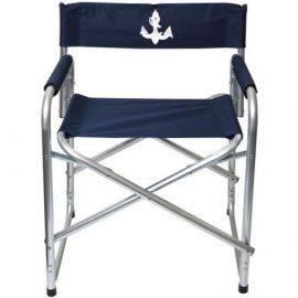 1852 Dæksstol blå aluminium L50 x D42 x H74cm