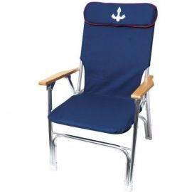 Dæksstol royal m-høj ryg navy