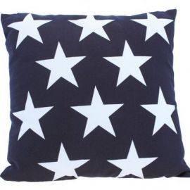 Pude model stjerner marineblå 40 cm 100% bomuld