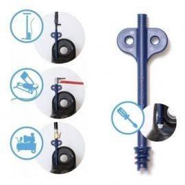 Adapter kit sæt m-10 adaptere & ventiler 5 dæksler 3skruer