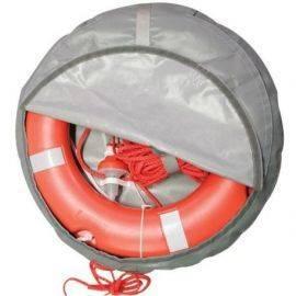 Rescue ring Solas godkendt lys & krans med line i grå betræk