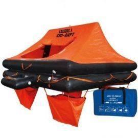 Lalizas iso 9650-1 redningsflåde i taske til 4 personer