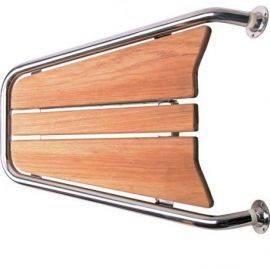 Stævnplatform med teak 70x48cm ø32mm rør