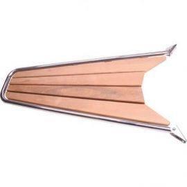 Stævnplatform med teak 115x52cm ø32mm rør