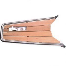 Stævnplatform med teak & ankerrulle 140x52cm ø42mm rør