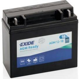 Batteri exide forseglet agm 18 ah start181x77x167 mm