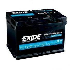 Exide Batteri dual AGM 760 cca - 70 ah.