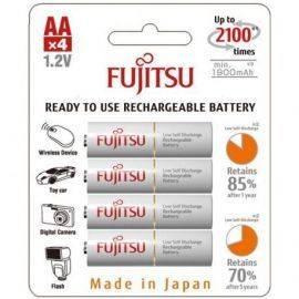Fujitsu genopladelig 4 stk batteri aaa 750mah