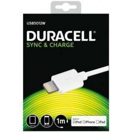 Duracell USB til Lightning Kabel 1 meter Hvid