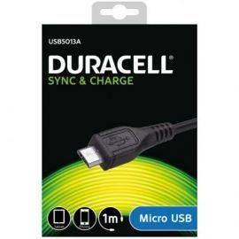 Duracell USB til Micro USB Kabel, 1 meter (Sort)