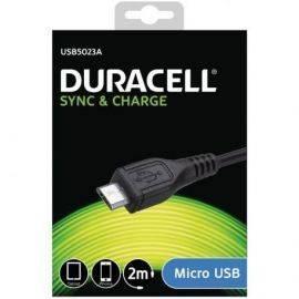Duracell USB til Micro USB Kabel 2 meter Sort