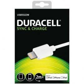 Duracell USB til Lightning Kabel, 2 meter (Hvid)