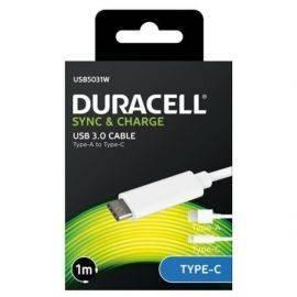 Duracell Sync - Ladekabel USB til USB-C Hvid 1 meter