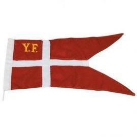 1852 yachtflag 34 x 65 cm. syet & med ø3 mm 25 cm snor