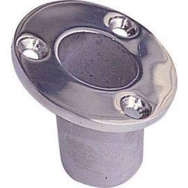Flagstangsholder rustfrit stål undersænket ø25mm
