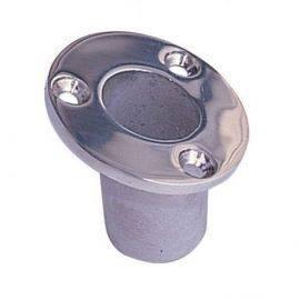 Flagstangsholder rustfrit stål undersænket ø: 32mm