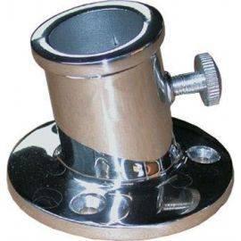 Flagstangsholder rustfrit stål dæksmonteret ø: 32mm