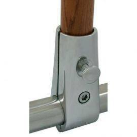 Flagstangsholder Ø: 25mm RF stål monteres på gelænder