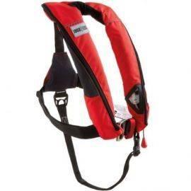 1852 aero plus vest iso 165n pro senson rød med harness & lume on lys
