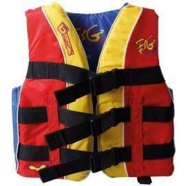 Base vandskivest junior rød-gul-grøn str xxs 40-50 kg