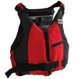 1852 svømme/jolle/SUP vest rød/sort 50-70 kg
