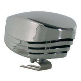 Enkel horn 12v mini forkromet
