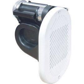 El-horn 24v t-indbygning hvid