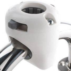 Navimount hvid til søgelænder ø25 eller 35mm