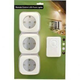 Led lys med fjernbetjening 3 lamper m-5 led ekskl batterier 5xaaa