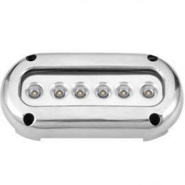 Undervandslys påbygning 14.2W 10-30V 6 LED hvid