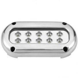Undervandslys påbygning 25.2W 10-30V 10 LED hvid