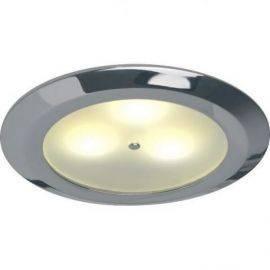 Prebit loftslampe 12/24v 3 x 1 w master chrom indbyg.